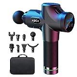 Pistolet de Massage Musculaire, Masseur de Muscle Profonds avec 30 Niveaux Réglables, 8 Têtes de Massage et Ecran LCD, Ultra Silencieux